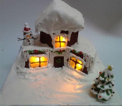 3d custom cake with lights for christmas custom design