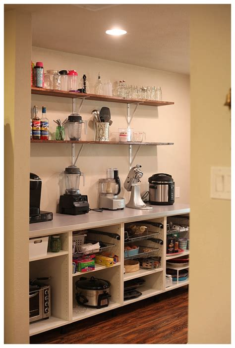 How To Start A Pantry by Adding Open Shelving In The Pantry Pantry Open Shelving