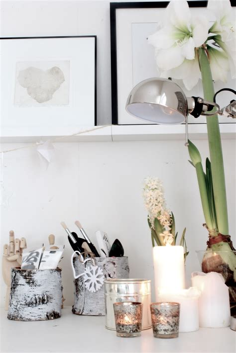 scandinavian home decor with modern desk l and white
