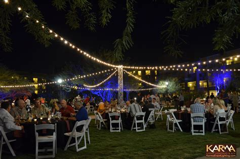 outdoor event lighting karma event lighting for weddings and special events