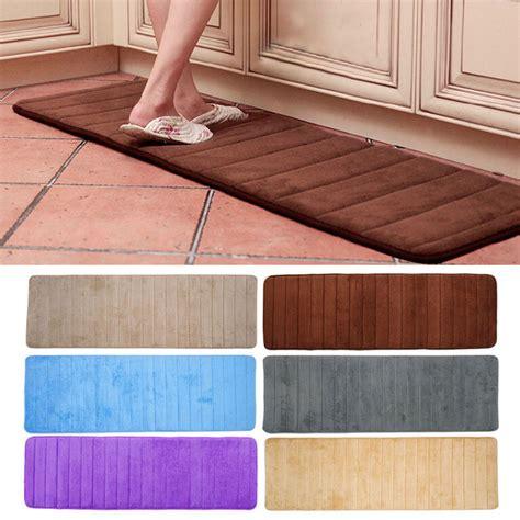 1 Memory Foam Mat - 1pc memory foam washable mat bedroom floor pad non slip