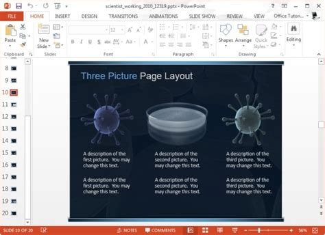 Animated Scientist Working In Lab Template For Powerpoint Powerpoint Templates For Scientific Presentations