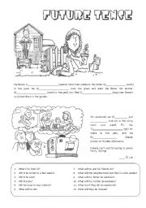 Short readings with the Future Tense - ESL worksheet by Alenka