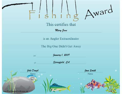 fishing gift certificate template pin mvp award certificate templates free on