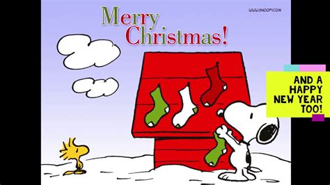 merry christmas  happy  year  snoopy  woodstock large youtube