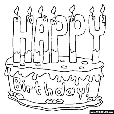 free coloring pages that say happy birthday happy birthday cake 2 online coloring page jude