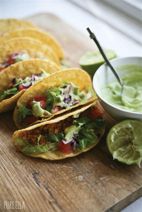 Backyard Taco Gluten Free Veggie Protein Tacos With Avocado Lime Ella