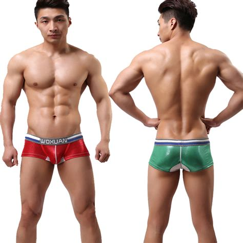 Buy 1 Get 1 Free Promo Gila Boxer Celana Dalam Pria Limited aliexpress buy woxuan brand s green leather like boxer boxers