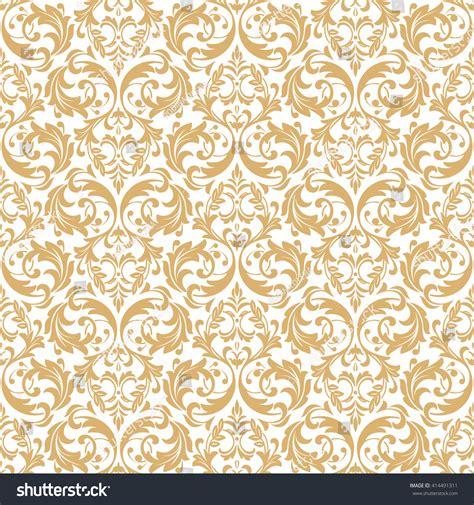 gold pattern floral floral pattern wallpaper baroque damask seamless stock