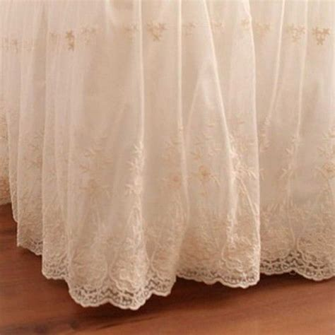 lace bed skirt bed skirts bedskirts and beds on pinterest