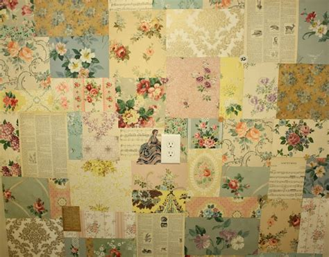 Wallpaper Patchwork - vintage wallpaper patchwork wall vintage home sweet home