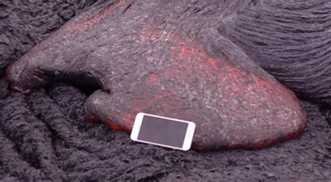 what s in a lava l iphone vs the volcano watch what happens when you drop an