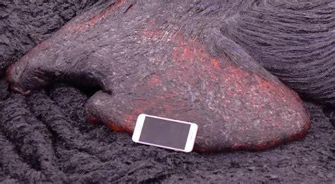 iphone   volcano      drop