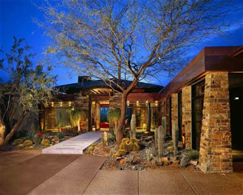 arizona style homes contemporary landscape design house residence rusnak