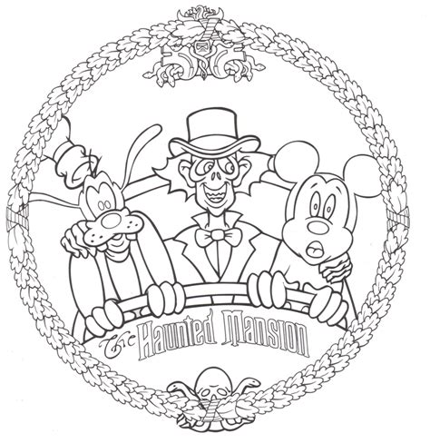 Haunted Mansion Coloring Pages free disney coloring pages lovebugs and postcards