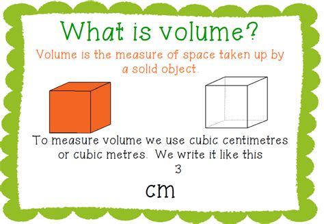 what is a unit course volume and capacity