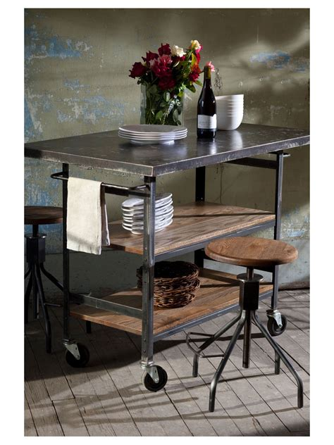 studio wood and metal kitchen island cottage home 174