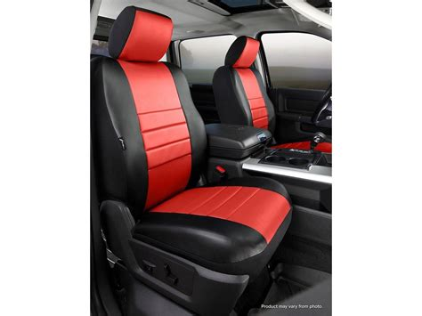 custom seat upholstery fia leatherlite custom seat cover red black front