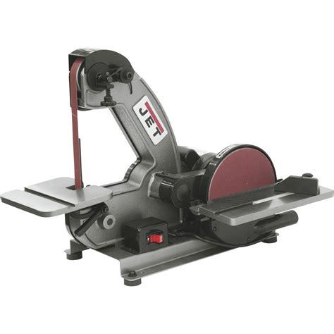 bench top grinders jet benchtop disc and belt sander 1in x 42in belt 8in