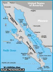 gulf of california on a map map of baja peninsula mexico maps baja peninsula facts