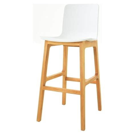 white bar stools wood buy white and light wood contemporary bar stool from