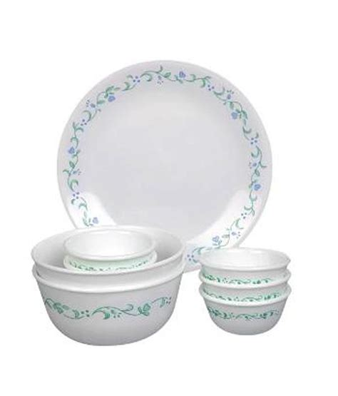 Corelle Dishes Country Cottage by Corelle 14 Pcs Dinner Set Country Cottage White Green