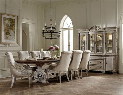 traditional dining room chairs orleans ii white wash traditional formal dining room
