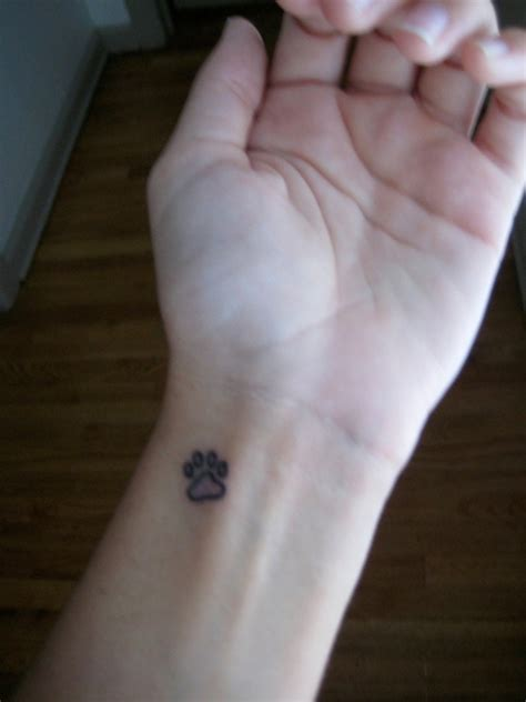 small dog paw print tattoo 35 awesome wrist paw tattoos
