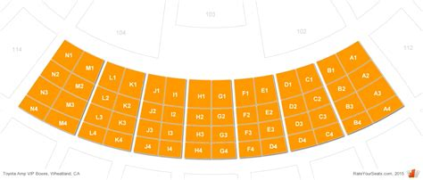 box seating chart toyota hitheatre vip box seats rateyourseats