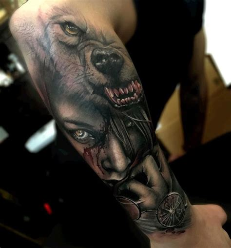 wolf sleeve tattoos 57 best wolf tattoos pictures and ideas