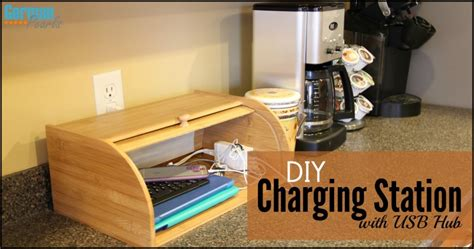 diy multi device charging station diy charging station organizer with usb hub german pearls