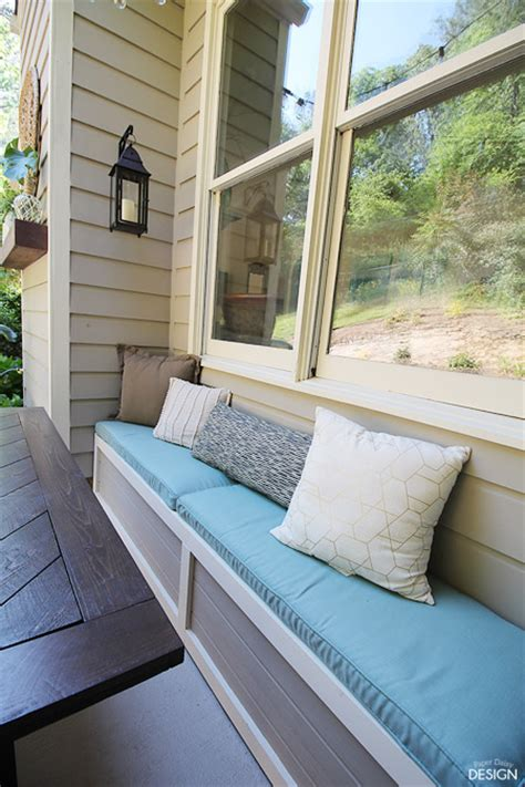 easy diy outdoor banquette bench