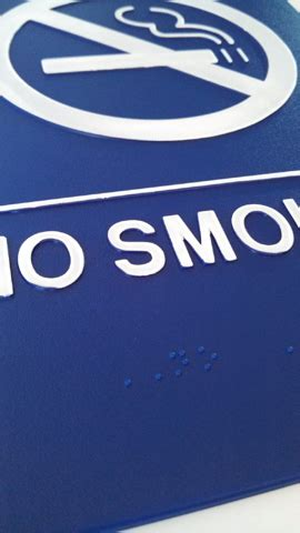 no smoking sign blue no smoking ada sign blue