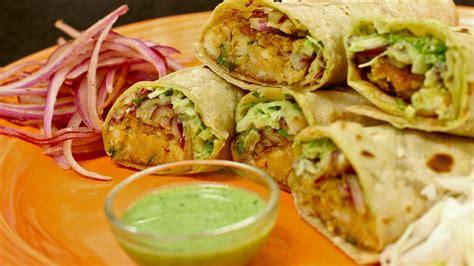 paneer kathi roll recipe vegetarian veg paneer frankie kathi rolls style
