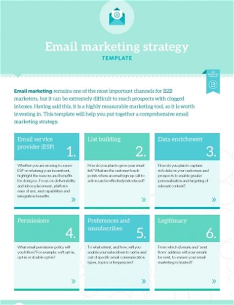 template email marketing strategy b2b marketing