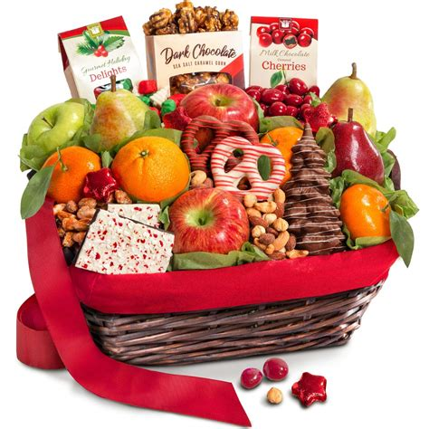 golden state fruit rustic treasures holiday christmas gift basket merry fruit basket with cheese and nuts grocery gourmet food
