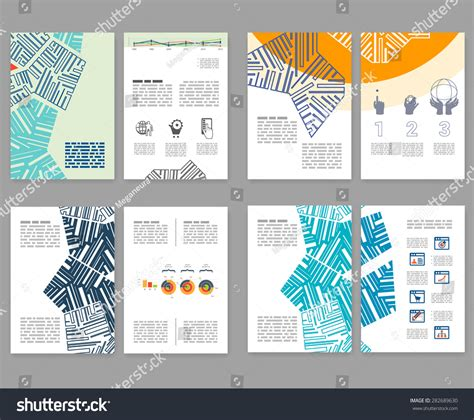 Editable Brochure Templates by Flyer Leaflet Booklet Layout Set Editable Stock Vector