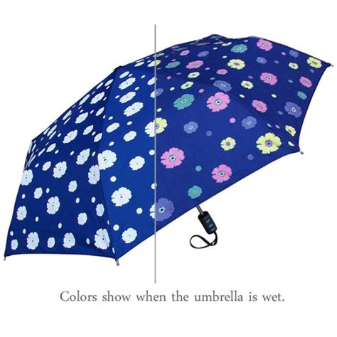pattern changing umbrella color changing flower umbrella with navy floral theme