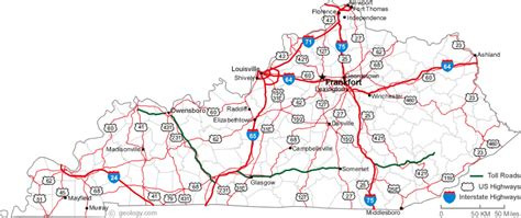 kentucky map interstate image gallery kentucky map with highways