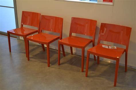 sedia lizz kartell 4 sedie kartell lizz arancio sedie a prezzi scontati