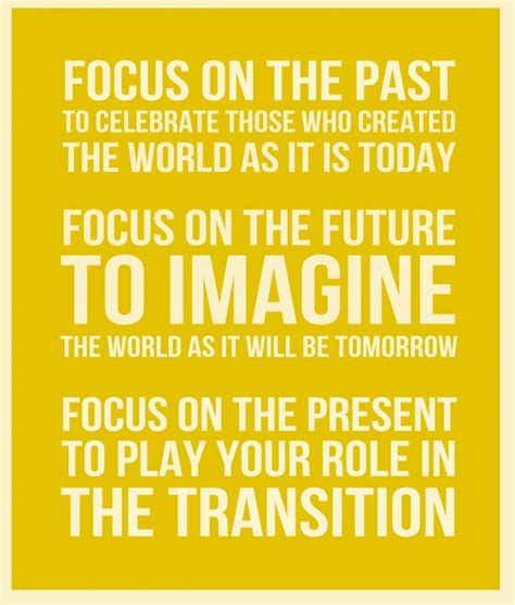 Focus On The Future Not The Past Essay by 17 Best Past Present Future Quotes On In The Present The Present And Past And