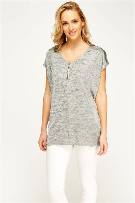 batwing top grey speckled batwing top grey just 163 5