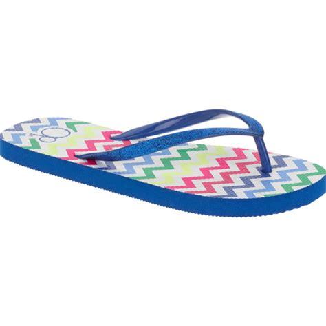 flip flop slippers walmart op s blue multi stripe flip flop shoes walmart