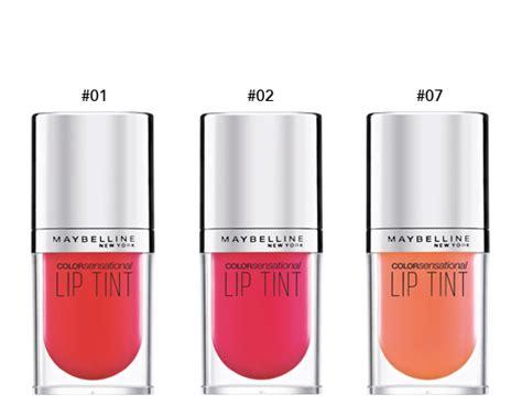 Maybelline Lip Tint Colorsensational 45ml maybelline color sensational lip tint 4 5ml 6 colors to