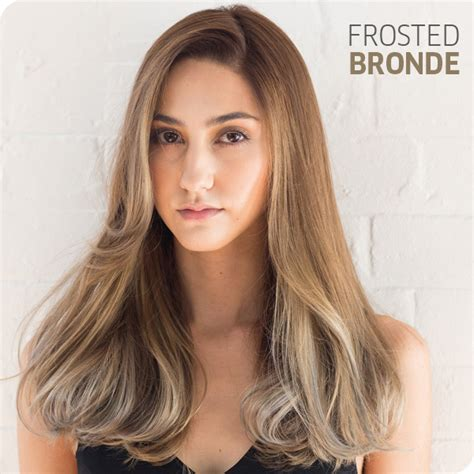 frosted hair color create the look frosted bronde salons direct