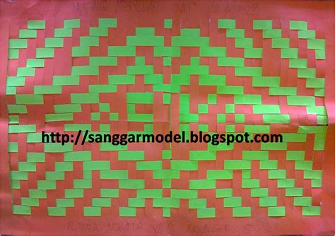membuat kerajinan anyaman kertas cara membuat anyaman kertas sanggar model