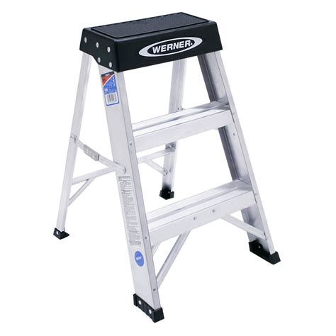 aluminum step stool 2 foot buy the werner 150b aluminum step stool type ia 2 ft