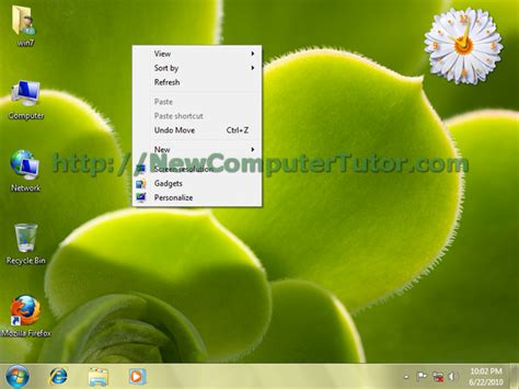 windows 7 themes change pictures change theme in windows 7 computer tutor