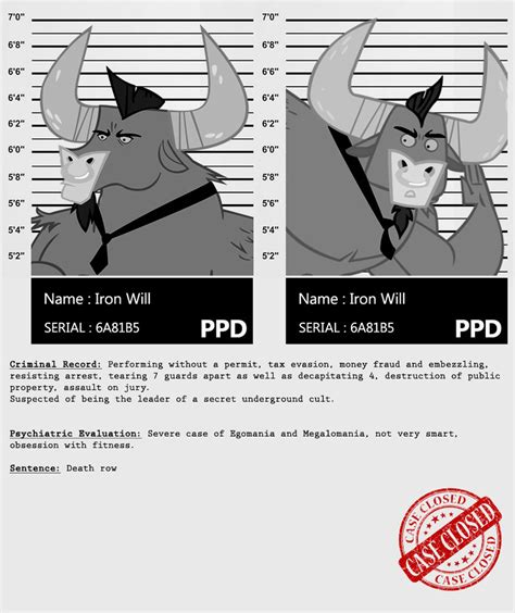 My Criminal Record My Criminal Records Iron Will By Dan232323 On Deviantart