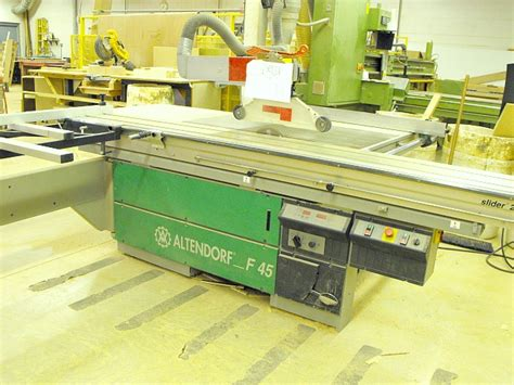 used altendorf f45 2800 series sliding table saw pre